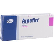 Amefin 100mg. 3 tablets
