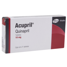 Accupril 10mg. 21 tablets