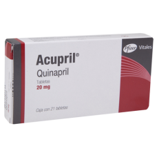 Accupril 20mg. 21 tablets