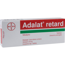 Adalat Retard 20mg. 28 tablets