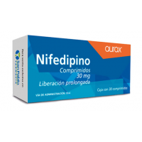 Nifedipine 30mg. Extended Release 30 Capsules